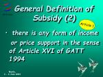 general definition of subsidy 2