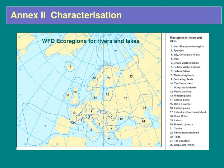 WFD Ecoregions for rivers and lakes
