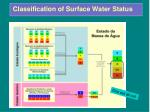 classification of surface water status
