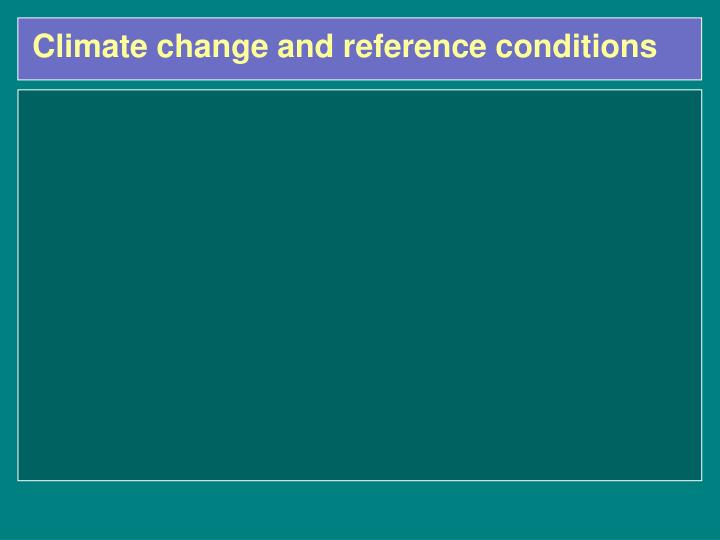 Climate change and reference conditions