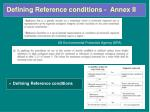 defining reference conditions annex ii