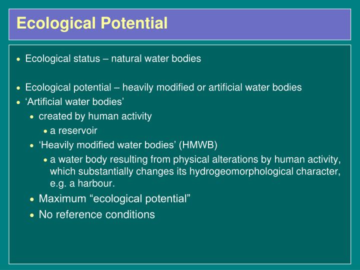 Ecological Potential