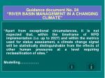 guidance document no 24 river basin management in a changing climate