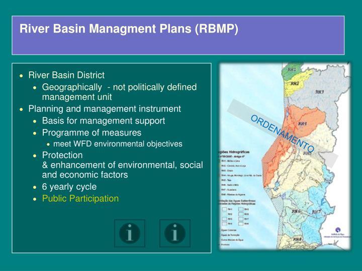 River Basin Managment Plans (RBMP)