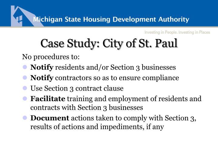 Case Study: City of St. Paul