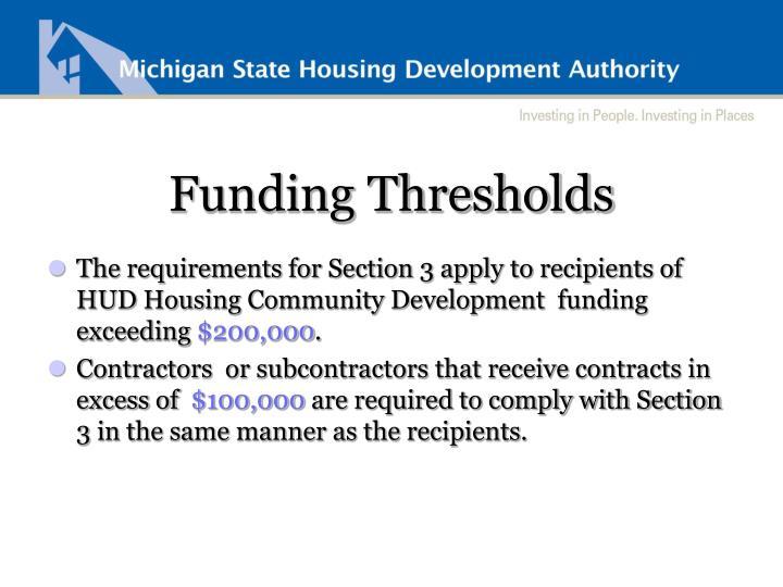 Funding Thresholds