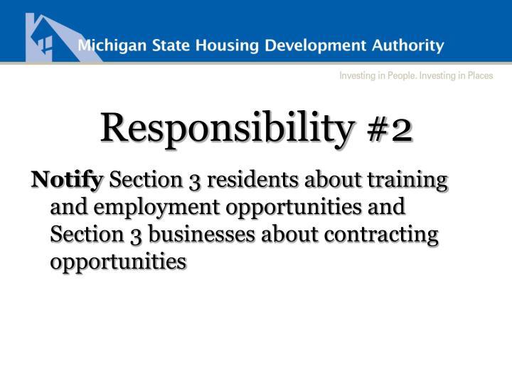 Responsibility #2