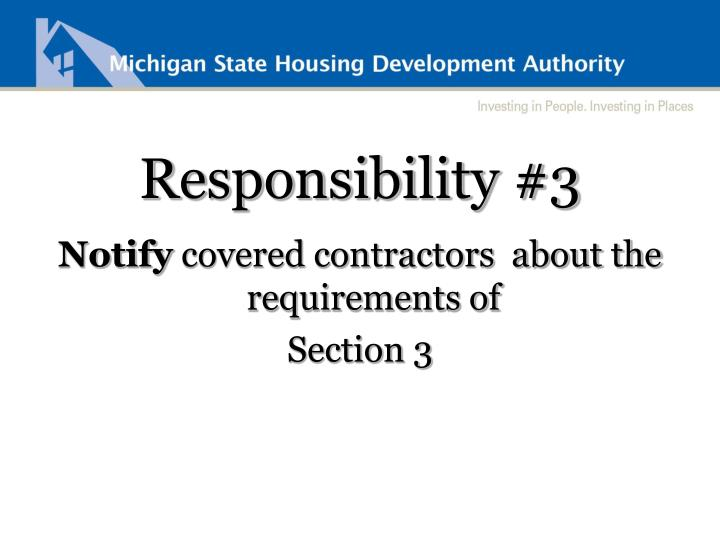 Responsibility #3