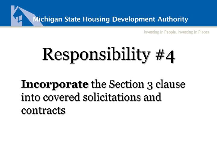 Responsibility #4