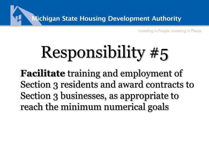 Responsibility #5