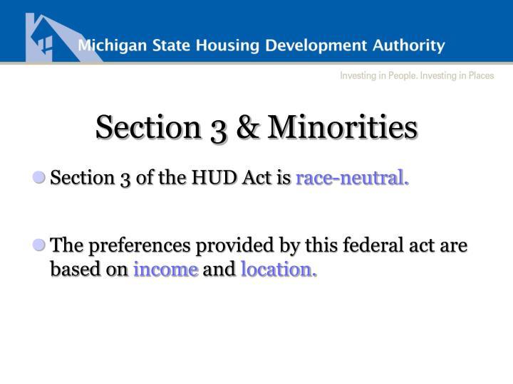 Section 3 & Minorities