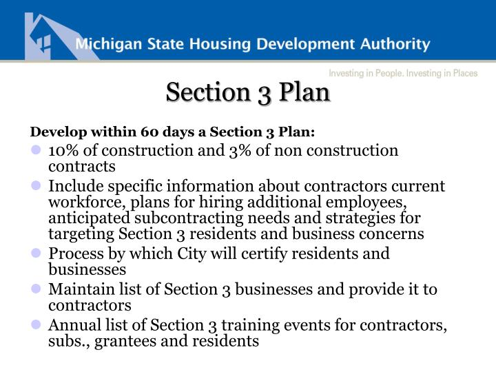 Section 3 Plan