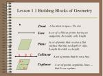 lesson 1 1 building blocks of geometry