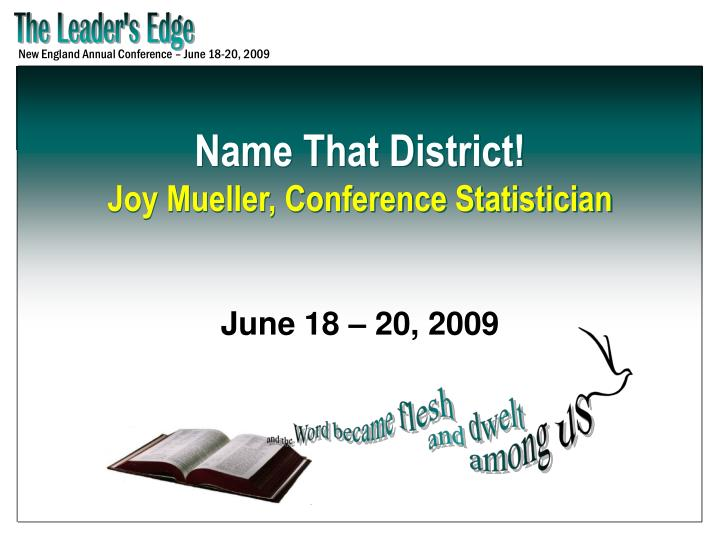 Name that district joy mueller conference statistician