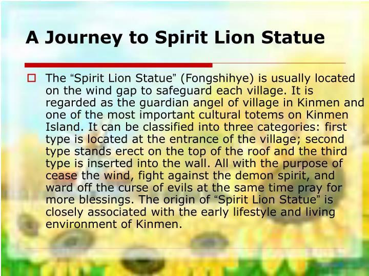 A Journey to Spirit Lion Statue