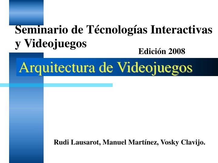 Arquitectura de Videojuegos