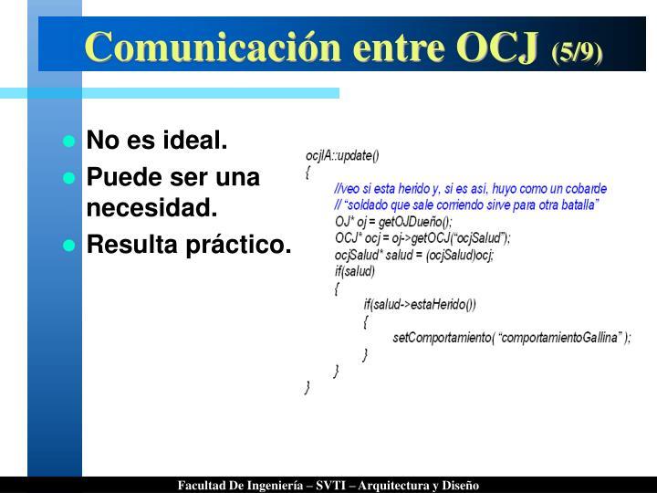 Comunicación entre OCJ