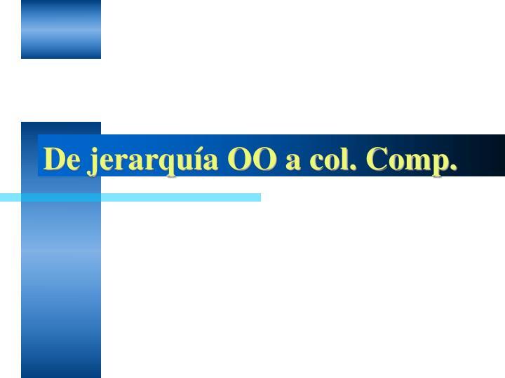 De jerarquía OO a col. Comp.