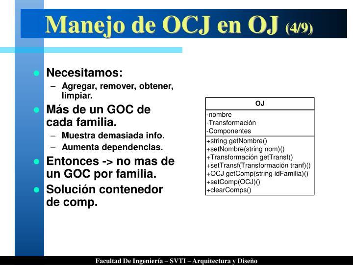Manejo de OCJ en OJ