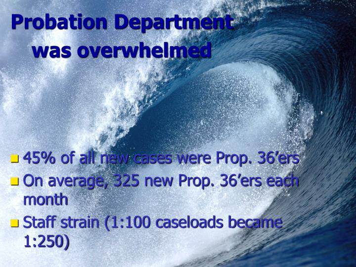 Probation Department was overwhelmed