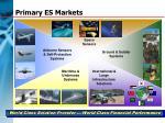 primary es markets