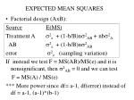 expected mean squares4