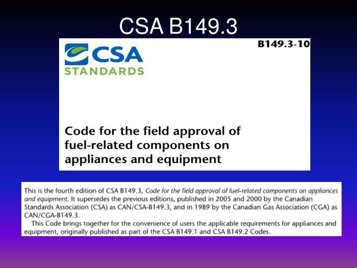 CSA B149.3