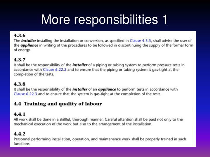 More responsibilities 1