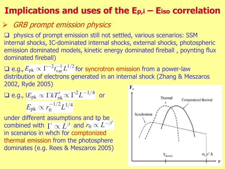 Implications and uses of the E