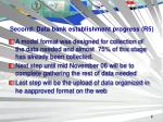 second data bank establishment progress r5
