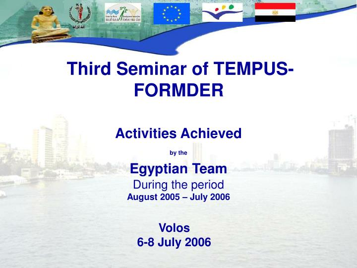 Third Seminar of TEMPUS- FORMDER