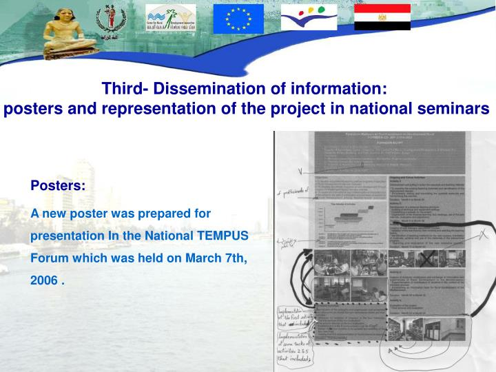 Third- Dissemination of information: