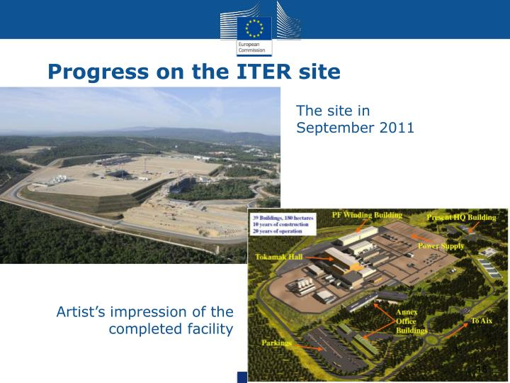 Progress on the ITER site