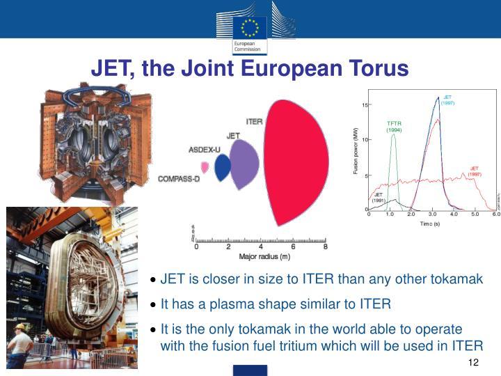 JET, the Joint European Torus