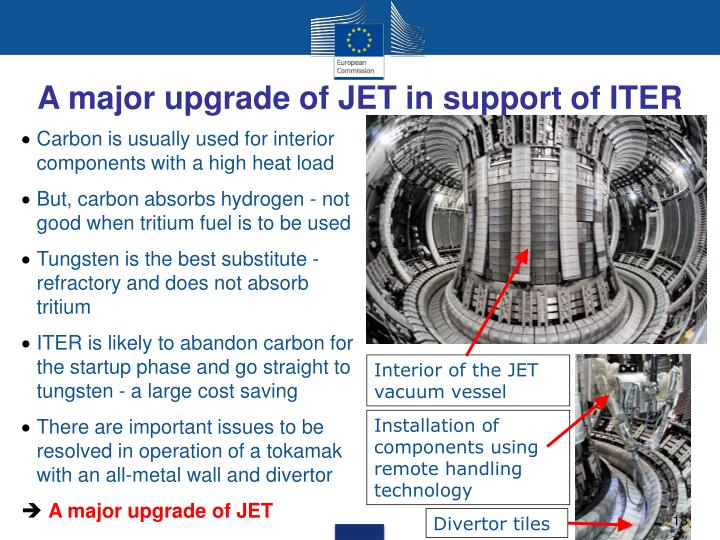 A major upgrade of JET in support of ITER