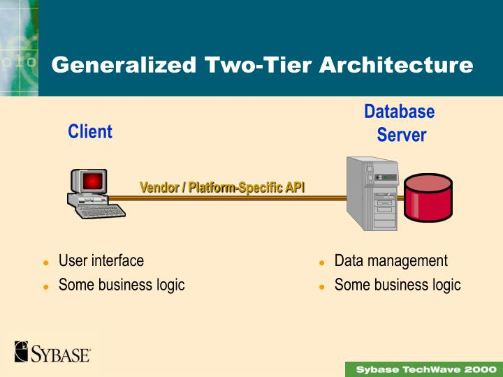Generalized Two-Tier Architecture