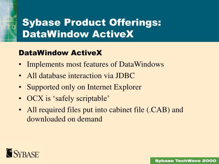 DataWindow ActiveX