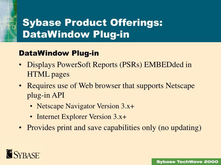 DataWindow Plug-in
