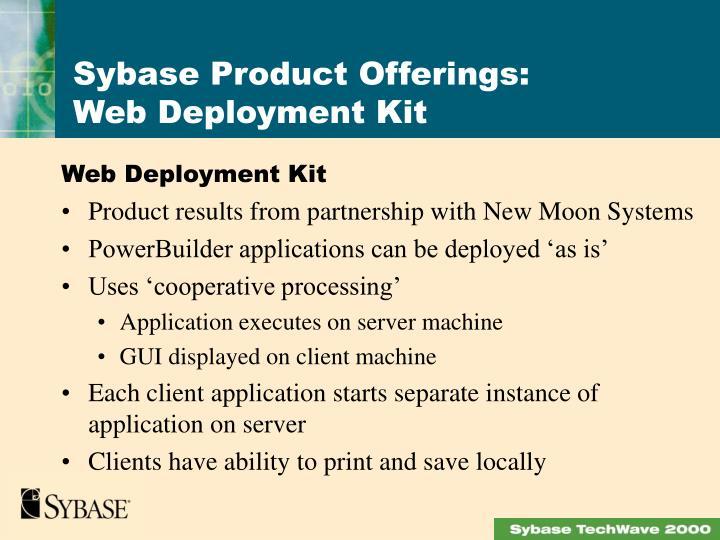 Web Deployment Kit