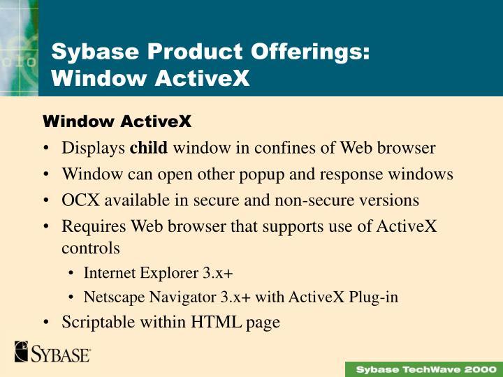 Window ActiveX