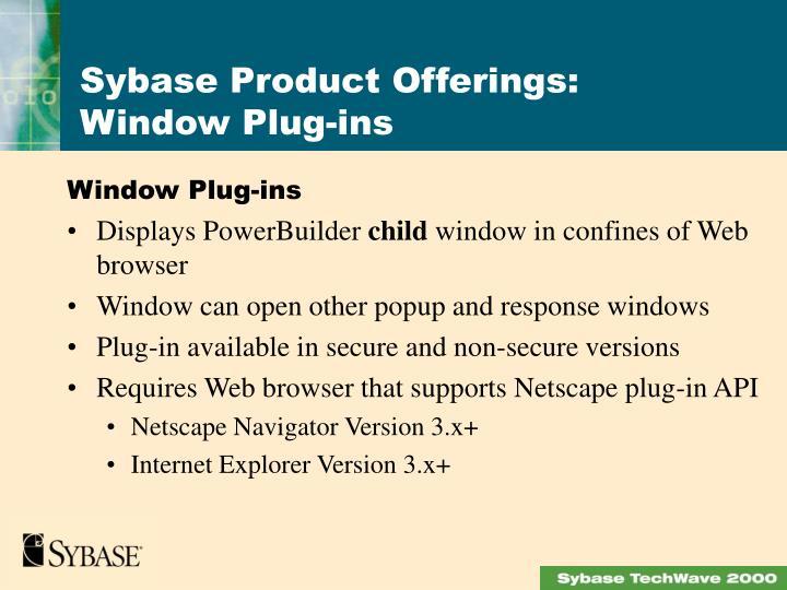 Window Plug-ins