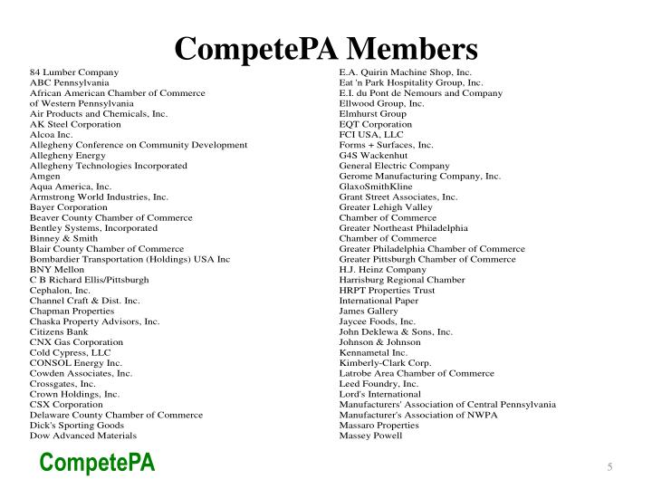 CompetePA Members