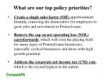 what are our top policy priorities