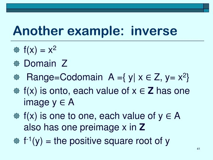 Another example:  inverse