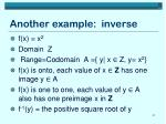 another example inverse
