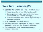 your turn solution 2
