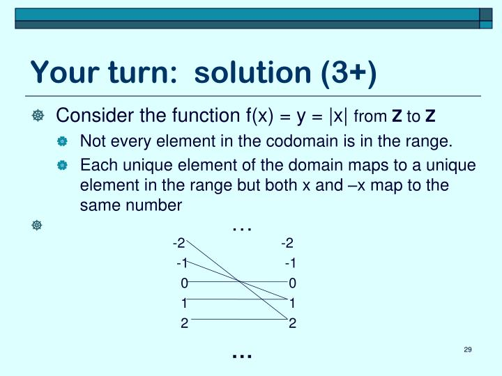 Your turn:  solution (3+)