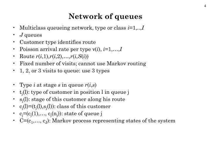 Network of queues