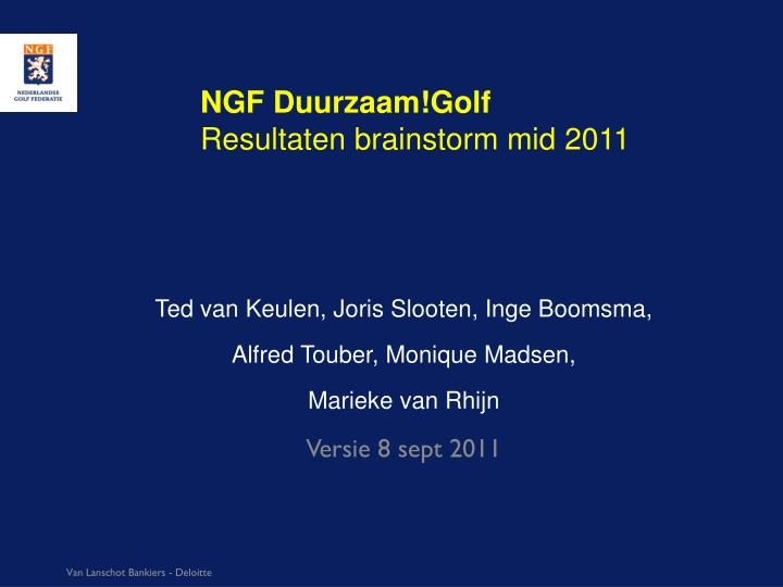 NGF Duurzaam!Golf