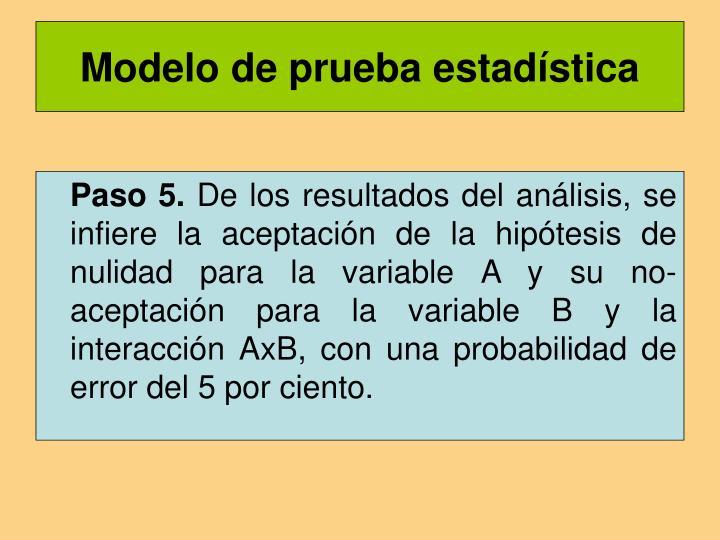 Modelo de prueba estadística